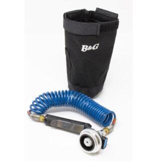 B&G ADU hylster og blå-rød slange